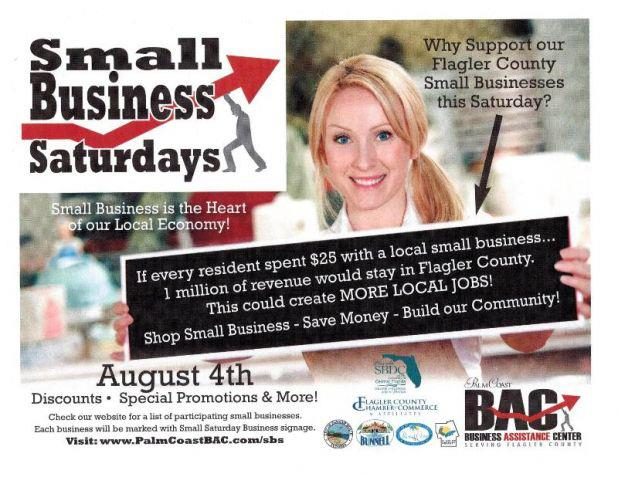 Small Business Saturday in Palm Coast Flagler County Florida