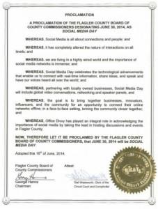 Flagler County Social Media Day Proclamation